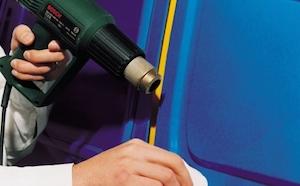 Строительный фен для обтяжки кузова автомобиля плёнкой своими руками